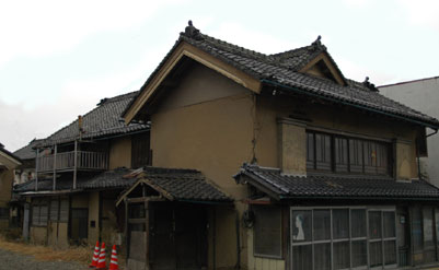 T字型の町屋敷