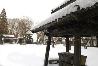 芝宮神社の手水舎